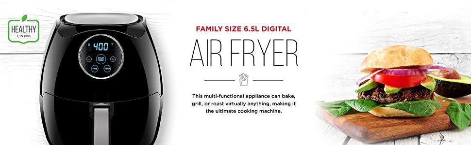Chefman 6.5 Liter Space Saving Air Fryer