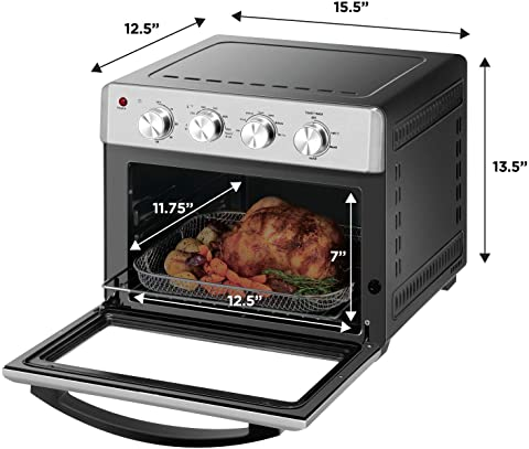 Chefman Air Fryer Toaster Oven dimensions