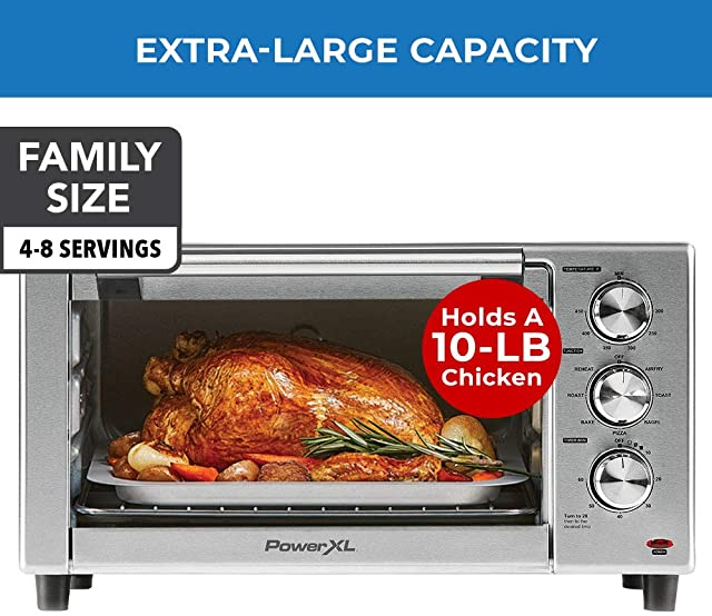 air fryer toaster oven with large capacity