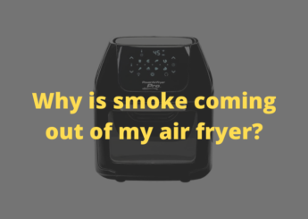Why is smoke coming out of my air fryer